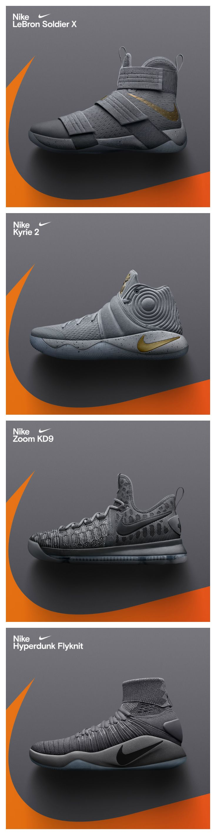 on sale 1f3ae a0712 Nike just dropped grey-on-grey colorways of the KD Kyrie Soldier and  Hyperdunk Available now.