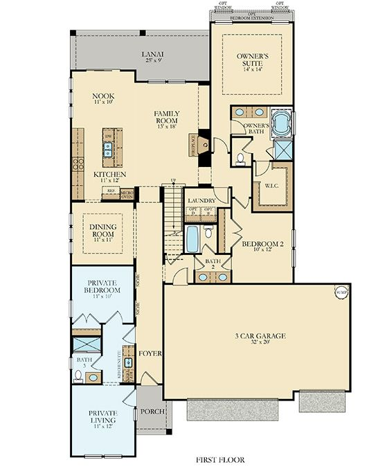 Best 25 next gen homes ideas on pinterest one floor for Multigenerational house plans with two kitchens