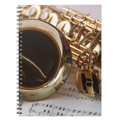 Saxophone Music Gold Gloss Notenblatt Keys Notebook - gold gifts golden diy custom