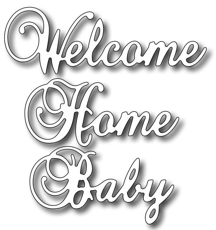 Frantic Stamper - Precision Dies - Welcome Home Baby (set of 3 dies)