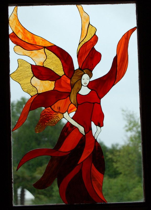 128 best images about stained glass fairies on pinterest for Panneaux pour fenetre