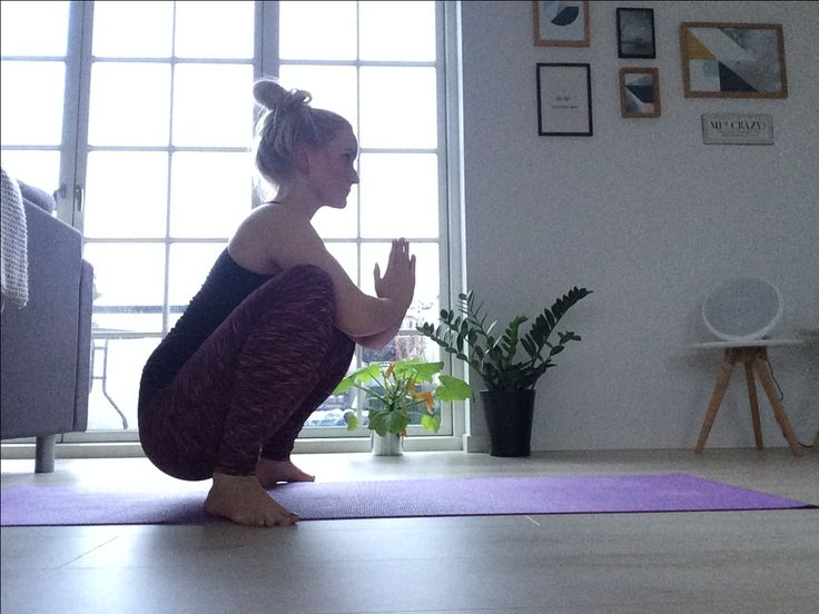 Yoga practice at home   Yoga squat Balance and strength is the key