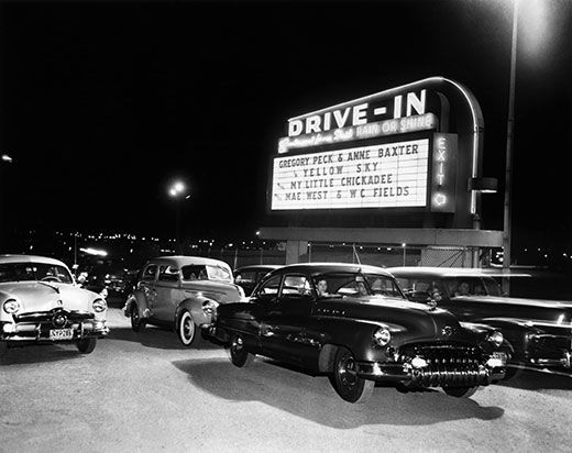 Drive-in movie theaters were created in the 1950s as a way to put unproductive real estate to better use.