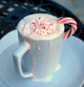 I know it's not christmas, but this looks oh so good right this second.Christmas Recipe, Chocolates Peppermint, Peppermint Mocha, White Chocolate, Candy Canes, Candies Canes, Canes Cocoa, Whipped Cream, Mocha Recipe