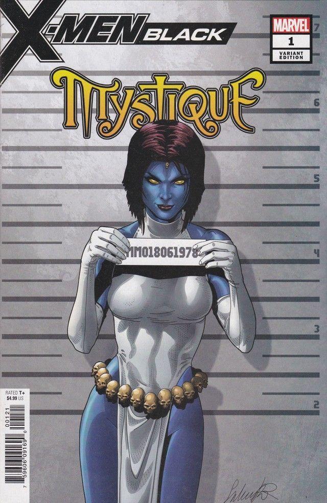 X Men Black Mystique 1 Marvel Comics Variant Mugshot Cover In 2020 Mystique Comic Mystique Marvel Black Comics