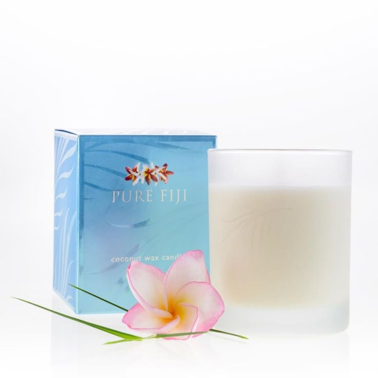 Pure Fiji Coconut Wax Candle | Enjoy exotic island breezes with this delightful coconut wax candle. Approximately 34 hour burn time.