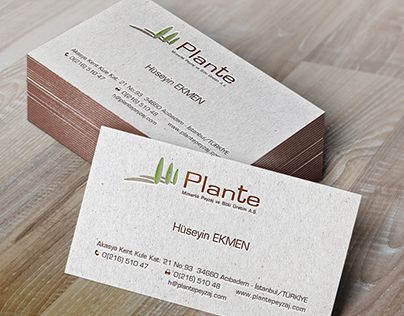 """Check out new work on my @Behance portfolio: """"Plante Logo and Corporate materials Design"""" http://on.be.net/1IyQjMb"""