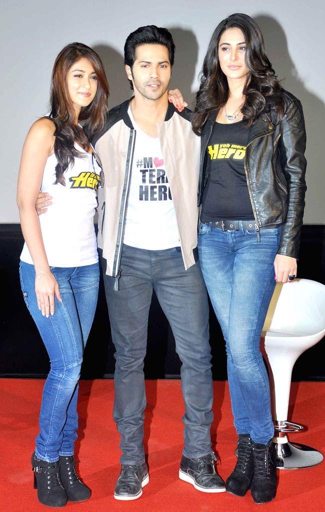 Ileana D'Cruz, Varun Dhawan and Nargis Fakhri : Trailer launch of 'Main Tera Hero'