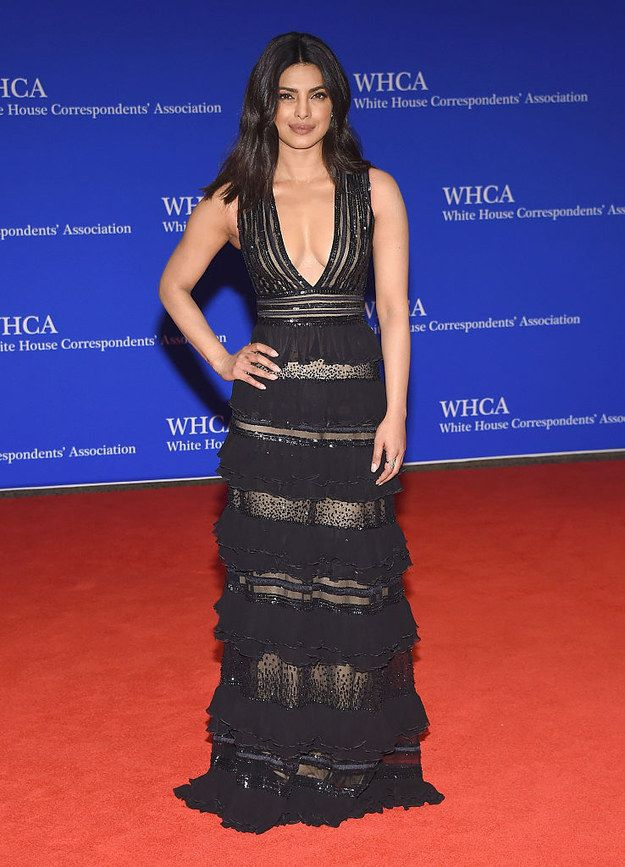 Priyanka Chopra - Zuhair Murad @ white house dinner 2016