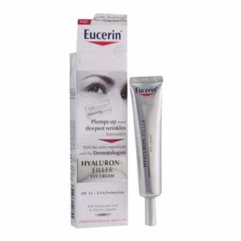 รีบเป็นเจ้าของ  Eucerin Hyaluron-Filler Eye Cream 15ml.  ราคาเพียง  1,250 บาท  เท่านั้น คุณสมบัติ มีดังนี้ ช่วยลดเรือนริ้วรอยเฉพาะจุด และรอบดวงตาบำรุงผิวบริเวณหางตา หน้าผาก ร่องแก้มช่วยเติมริ้วรอยลึกให้ดูตื้นขึ้นพร้อมสารป้องกันแสงแดด สำหรับทุกสภาพผิวปราศจากน้ำหอม