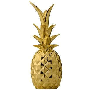 Decoratie Ananas , Goud, medium