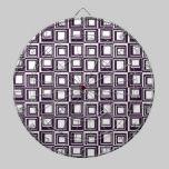 Contemporary Purple Squares Pattern dartboards