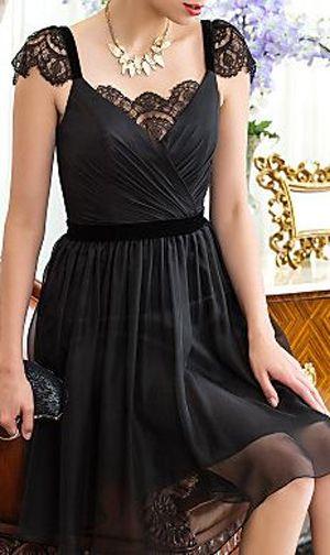Lace detail lbd - stunning little black dress
