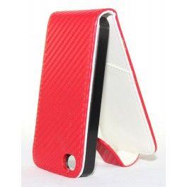 Apple iPhone 4 punainen läppäkotelo.