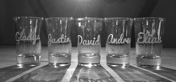 5 personalized shot glasses Custom shot glasses by NiksNaksStore