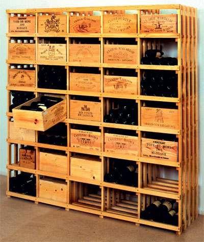 j De WeinschenkerOpslaan of bewaren van wijnflessen; het laten rijpen van de wijn bi