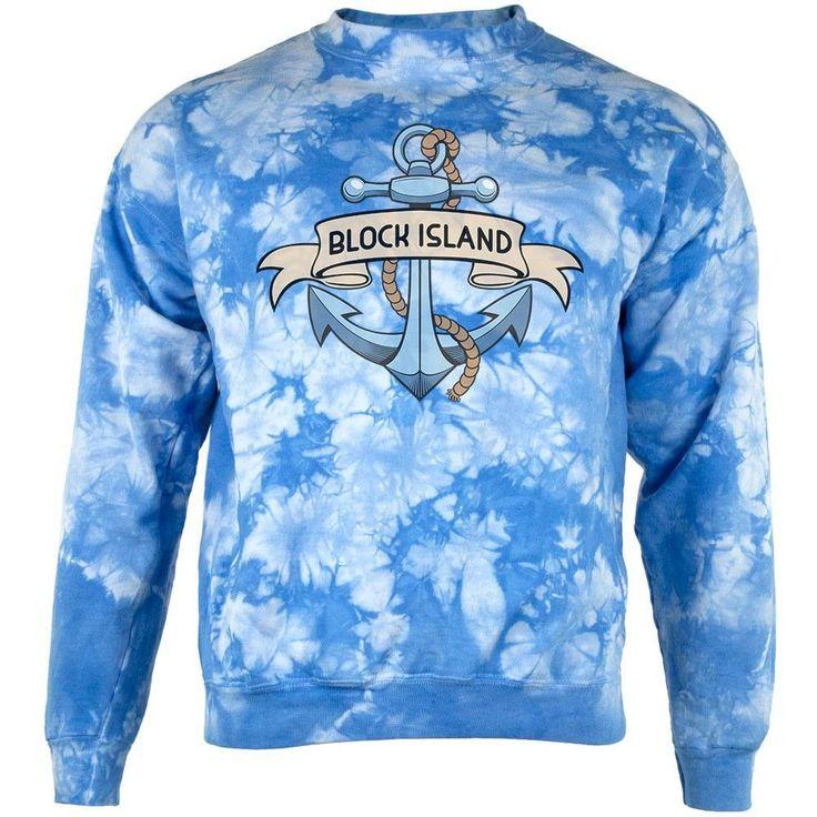 Anchor at Block Island Mens Sweatshirt Tie Dye