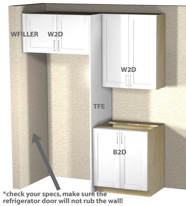 Kitchen Remodel Refrigerator: Best 25+ Refrigerator Cabinet Ideas On Pinterest