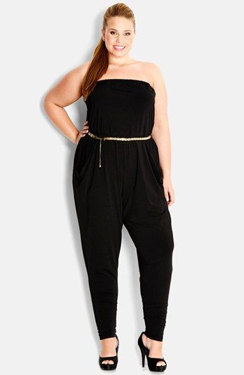 City Chic 'Dancing Queen' Jumpsuit (Plus Size) available at #Nordstrom