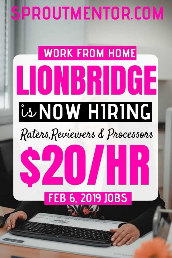 Legitimate Work From Home Jobs Hiring Now, February 6, 2019