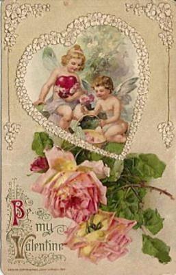 ポストカード - イギリスとフランスのアンティーク | バラと天使のアンティーク | Eglantyne(エグランティーヌ)