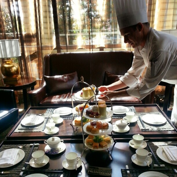 Afternoon high tea presentation at Sofitel Hotel Phnom Pehn