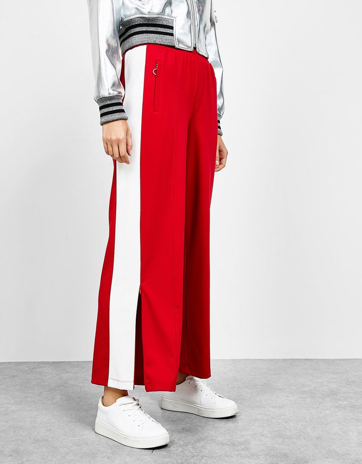 Bershka Cyprus - Plush trousers with side bands