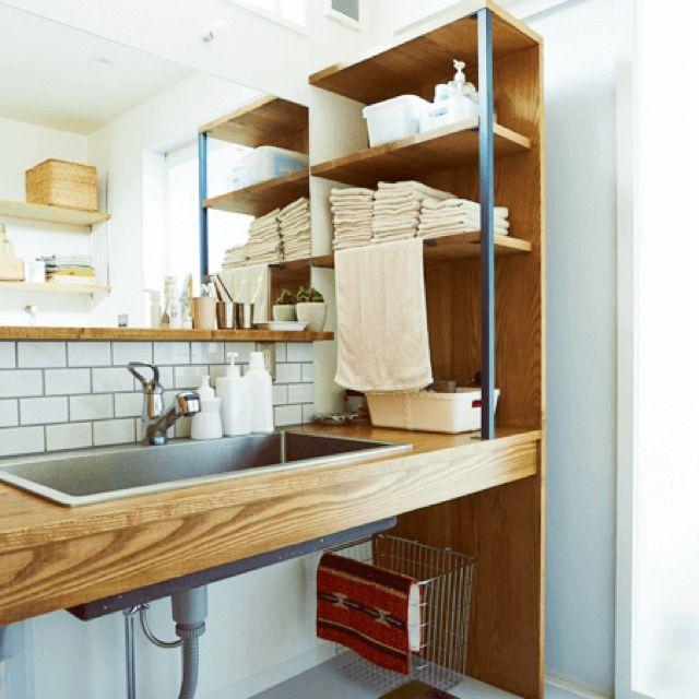 Job of home / job / Bathroom / wire basket / steel shelf / fixtures wash basin ... interior example of such - 2016-02-11 22:14:28 | RoomClip (Room clip)