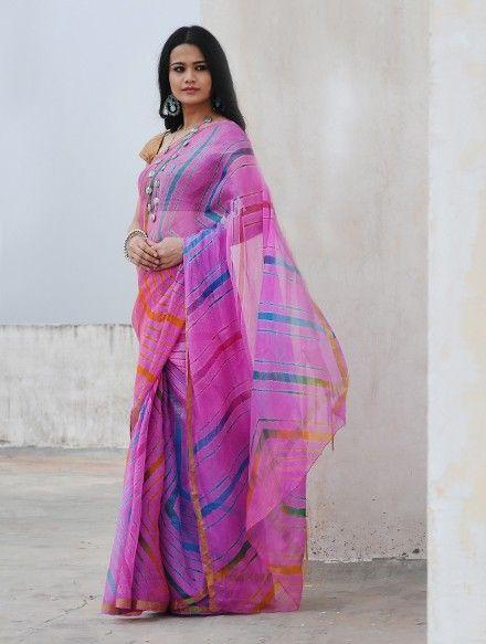 Kota silk saree with zari border