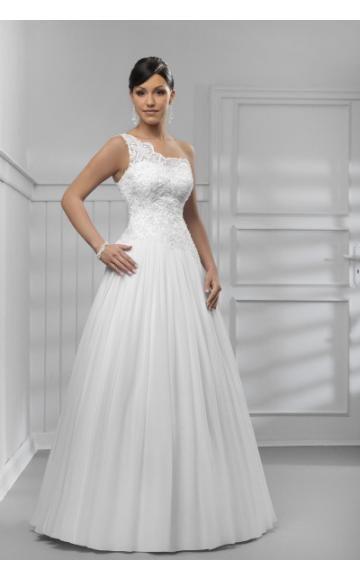 A-vonalú Félvállas Nyár Évjárat Menyasszonyi ruha
