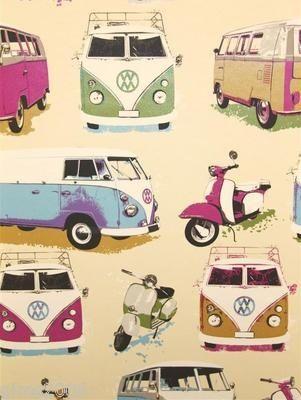 VW Volkswagen Camper Van Wallpaper J05901 | eBay