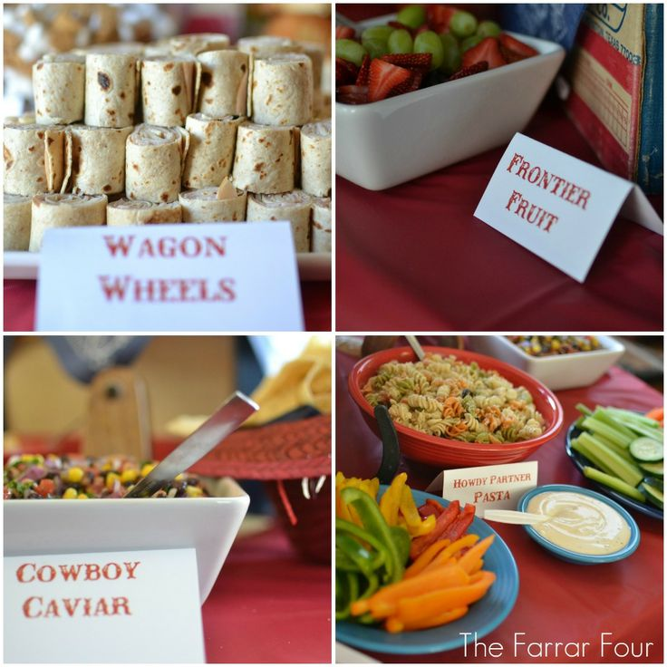 Wagon Wheels- Turkey/Provolone & Ham/Cheddar roll up sandwiches sliced Wild West Veggies- Mix of peppers, celery, cucumber, carrots & ranch
