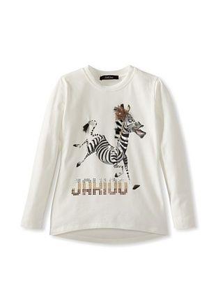 55% OFF Monnalisa Girl's Zebra Shirt (Cream)