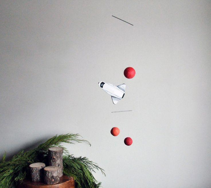Annex Suspended - Stellar Spacecraft and Planet Mobile Art