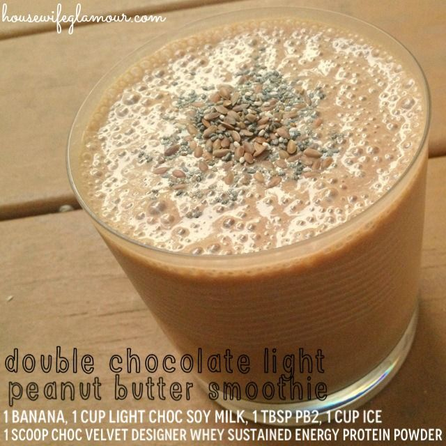 Double Chocolate Light Peanut Butter Smoothie with Designer Whey