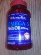 "Fish Oil 1000mg 300 mg Active Omega-3"" ""Purified to eliminate mercury"" DracosHempEmporium.com"