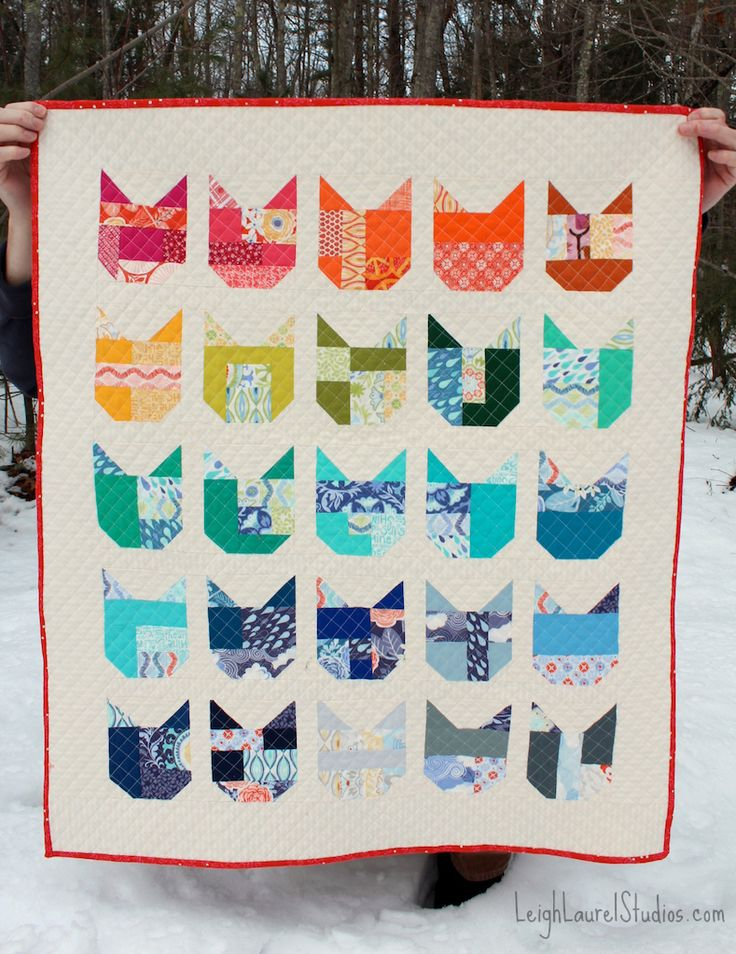 The Cat Quilt |  leigh laurel studios from Elizabeth Hartman's Cat Quilt Along