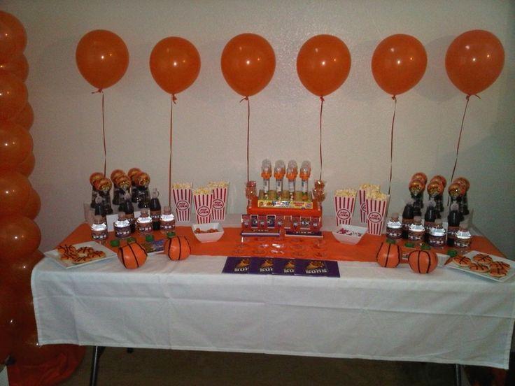 Basketball Birthday Party Table