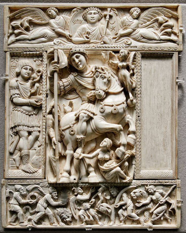 The Barberini Ivory, which is thought to portray either Justinian or Anastasius I Early 6th C.
