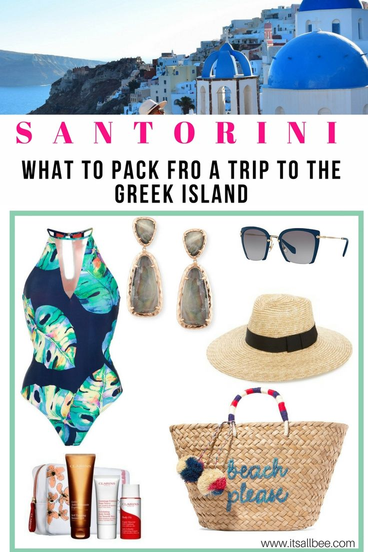 Greek Holiday Packing List | 10 Essential Items To Pack For Santorini | ItsAllBee - What to Pack for Greece In Summer  #Santorini #Style #outfits #ootd #whatiwore