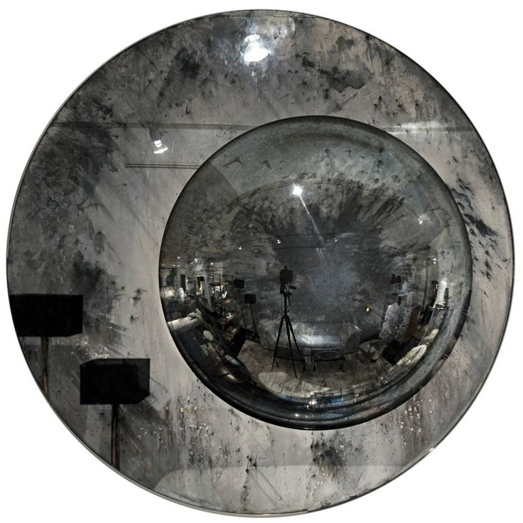 Round Mirror | From a unique collection of antique and modern wall mirrors at https://www.1stdibs.com/furniture/mirrors/wall-mirrors/