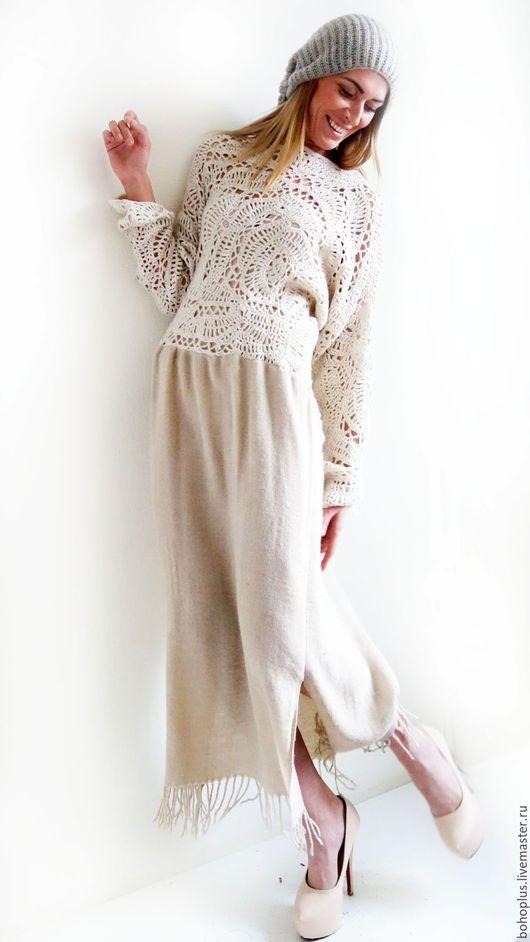 """Платья ручной работы. Ярмарка Мастеров - ручная работа. Купить Платье в стиле бохо шик """" Евдокия 2"""". Handmade."""