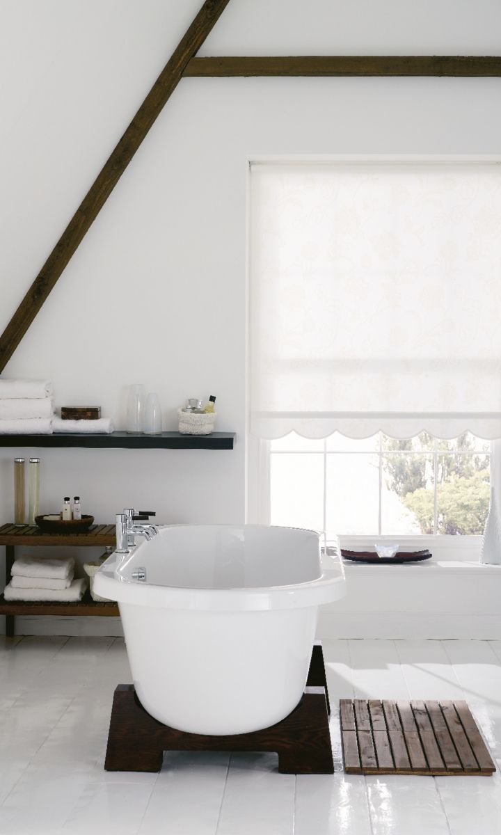 Cheap bathroom blinds uk - Make The Most Of Exposed Beams By Creating A Monochrome Decor Match Your Accessories With
