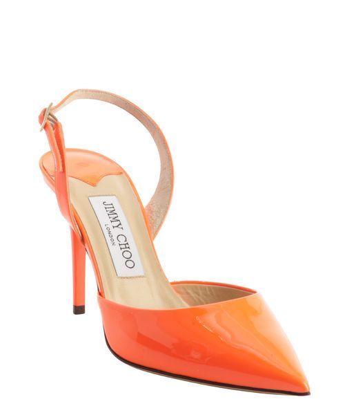 Replica Jimmy Choo neon flame leather pointed toe sling back ...