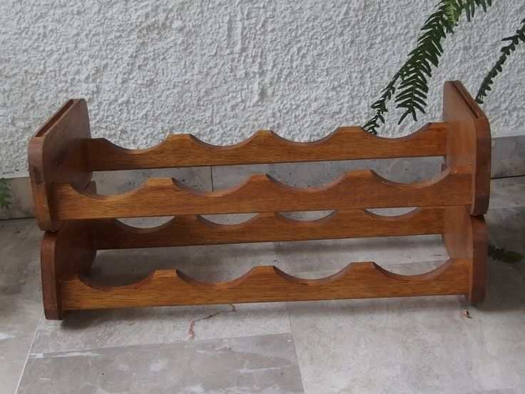Vintage 8 Bottles Wine Rack Wooden Collapsible Table Top Wine Rack Cambas Wine Tack Rustic Wine Rack by VintageHomeStories on Etsy