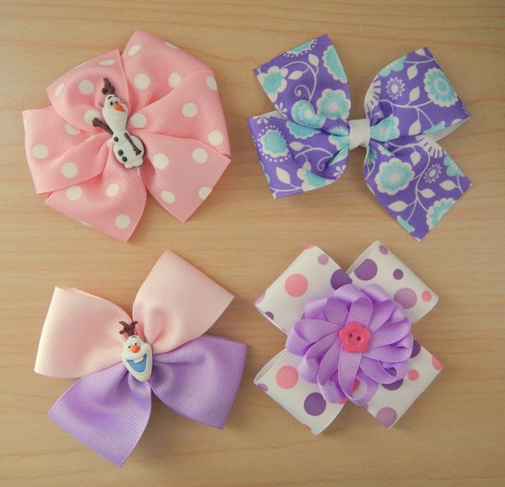 Since every girl is unique, we create a hair bow collection that can represent that uniqueness. Every hair bow included in this set is different from the others. Here are the four hair bows included i