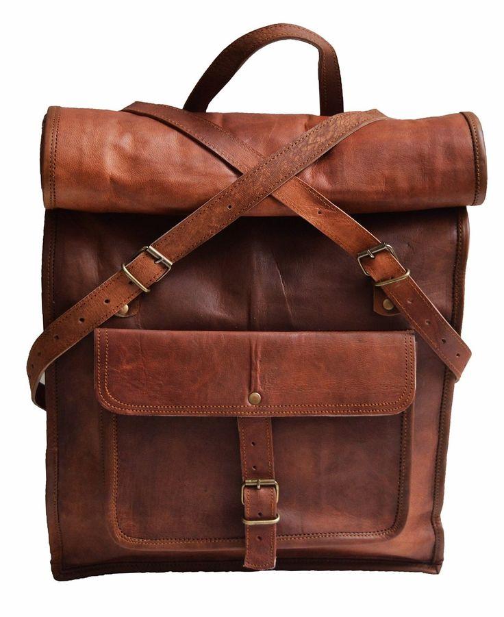 "PLH5 VINTAGE PAX2™ Leather backpack. Handmade 22"""