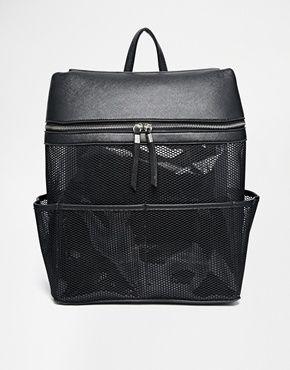 New Look Perspex Mesh Backpack