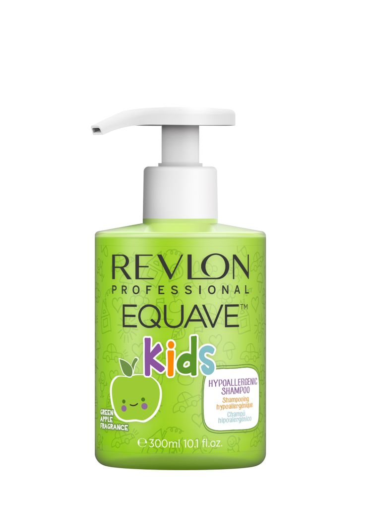 Revlon Professional Equave Kids Hypoallergenic Shampoo Green Apple Fragrance 300ml.