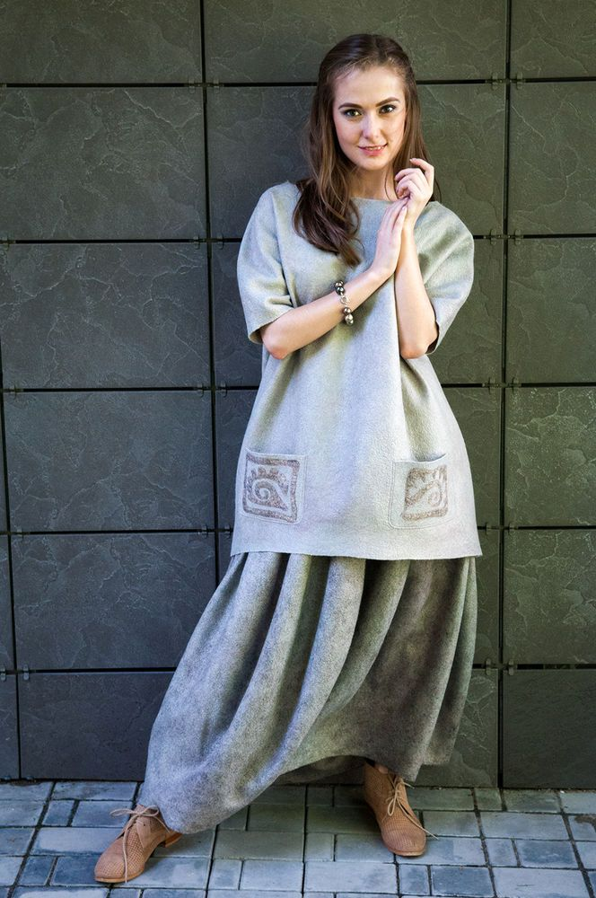 мастер-класс, юбка из войлока, бохо-стиль